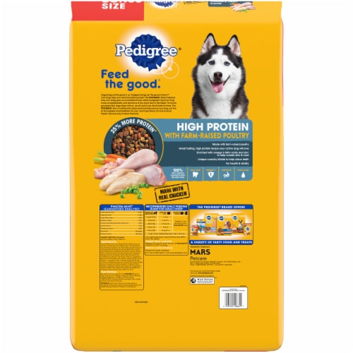 Pedigree® High Protein Chicken & Turkey Flavor Dry Dog Food Perspective: back