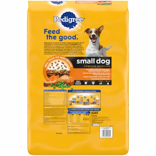 Pedigree® Small Dog Complete Nutrition Roasted Chicken Rice & Vegetable Flavor Adult Dry Dog Food Perspective: back