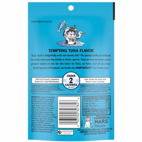 Temptations Tempting Tuna Flavor Cat Treats Perspective: back