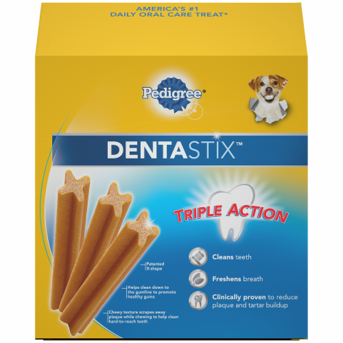 Pedigree DentaStix Triple Action Original Small/Medium Dog Treats Perspective: back