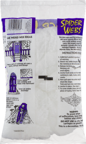 Fun World Spider Webs Decoration Perspective: back