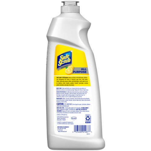 Soft Scrub Lemon Scent Total All Purpose Cleanser Perspective: back