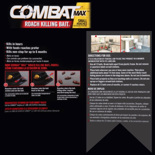 Combat® Max Quick Kill Small Roach Bait Stations Perspective: back