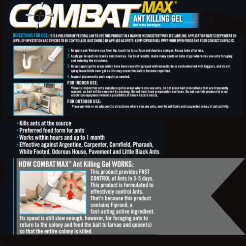 Combat® Max Ant Killing Gel Perspective: back