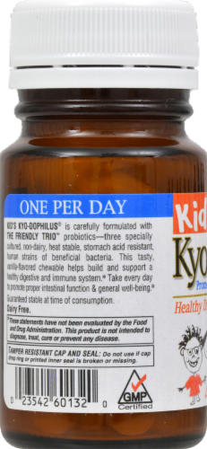 Kyol Kids Kyo Dophilus Vanilla Chewable Tablets Perspective: back