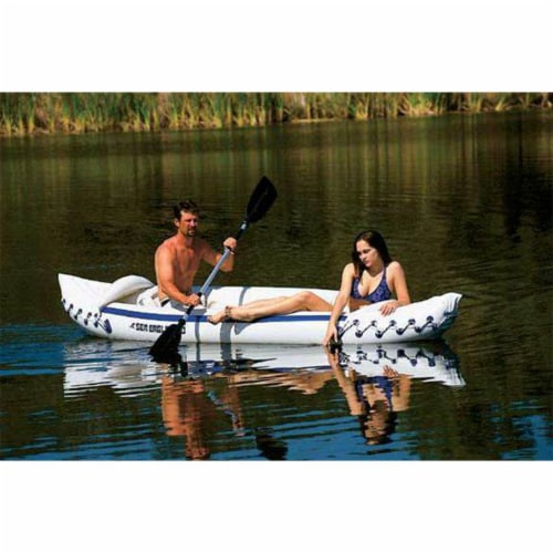 Sea Eagle 330 Pro 2 Person Inflatable Sport Kayak Canoe Boat with Pump and Oars Perspective: back