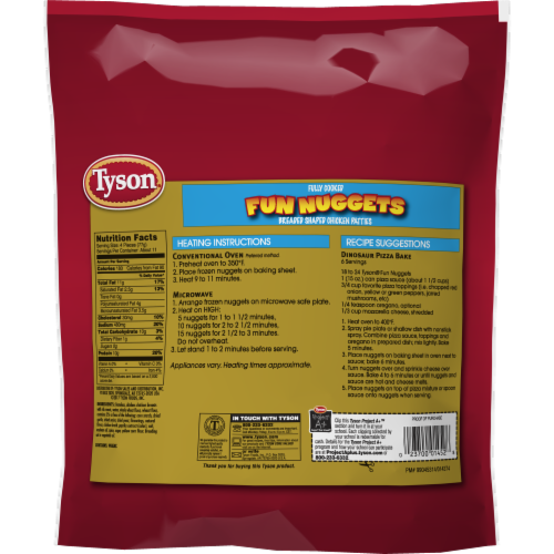 Tyson® Fully Cooked Fun Nuggets with Whole Grain Breading Perspective: back