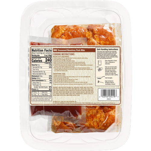Tyson® Instant Pot® BBQ Seasoned Boneless Pork Ribs Meal Kit Perspective: back