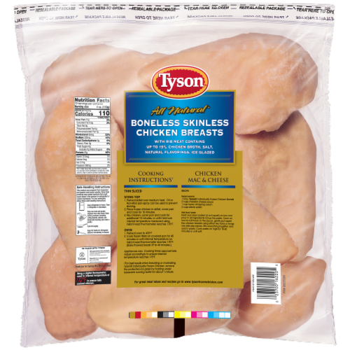 Tyson All Natural Boneless Skinless Chicken Breasts Perspective: back