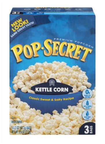 Pop Secret Kettle Corn Popcorn Bags Perspective: back