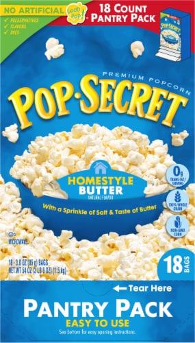 Pop Secret Homestyle Butter Microwave Popcorn Bags Perspective: back