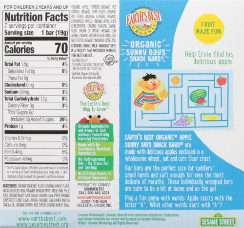 Earth's Best Organic® Sesame Street® Apple Sunny Days Snack Bars Perspective: back