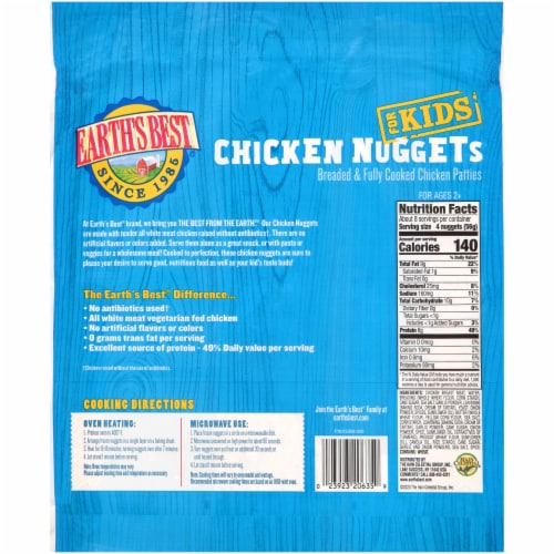 Earth's Best® Chicken Nuggets for Kids Perspective: back