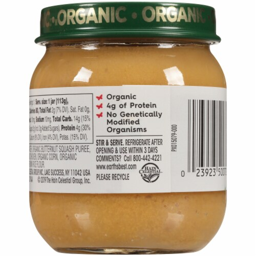 Earth's Best Organic Chicken & Brown Rice Stage 2 Baby Food Perspective: back