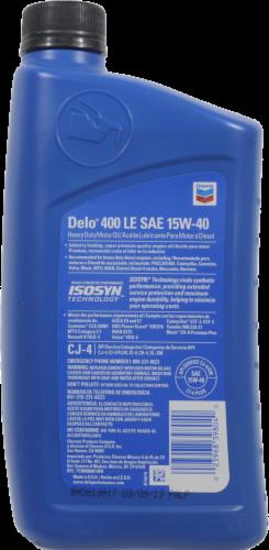 Chevron Delo 400LE 15W-40 SAE Heavy Duty Motor Oil Perspective: back