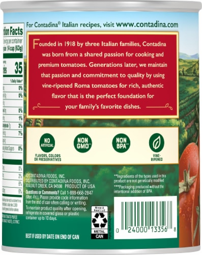 Contadina® Roma Tomato Puree Perspective: back