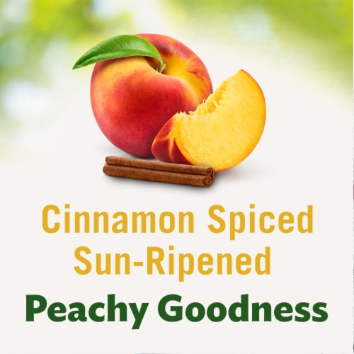 Del Monte Fruit & Oats Peach Cinnamon Spice Cups 2 Count Perspective: back