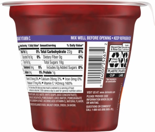 Del Monte® Stay Well Grapefruit in Pomegranate Flavored Juice Fruit Cup Perspective: back