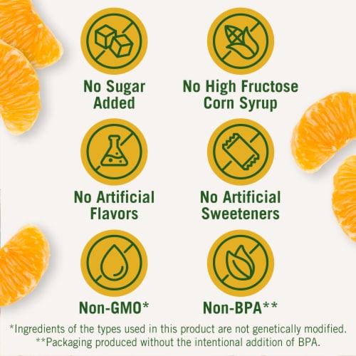 Del Monte No Sugar Added Mandarin Oranges Fruit Cups Perspective: back