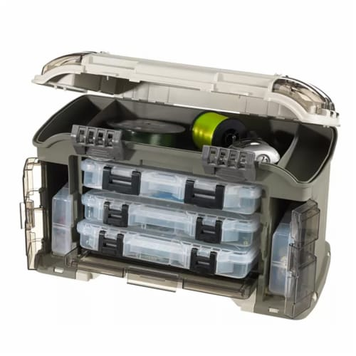Plano Guide Series Angled StowAway Rack Tackle Box System for Fishing Storage Perspective: back