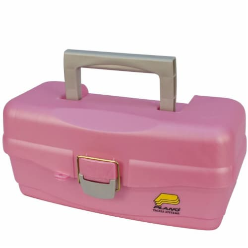 Plano 500089 Youth Fishing Tackle Bait Storage Box with Removable Tray, Pink Perspective: back