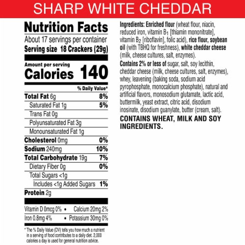 Cheez-It Grooves Sharp White Cheddar Snack Crackers Family Size Perspective: back