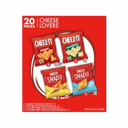 Cheez-It Cheese Lovers Snack Crackers Variety Pack Perspective: back