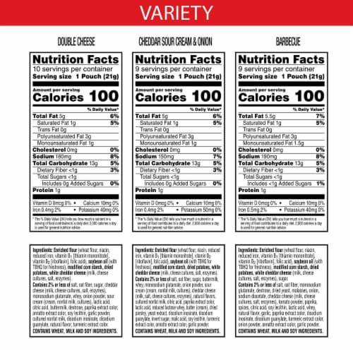 Cheez-It Snap'd Cheesy Baked Snacks Variety Pack Perspective: back