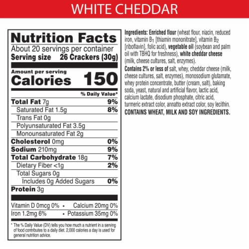 Cheez-It Baked Snack Cheese Crackers White Cheddar Family Size Perspective: back