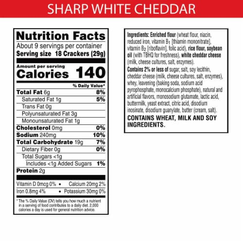 Cheez-It Grooves Crunchy Cheese Snack Crackers Sharp White Cheddar Perspective: back