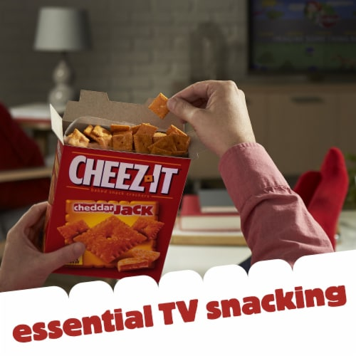 Cheez-It Baked Snacks Cheddar Jack Cheese Crackers Perspective: back