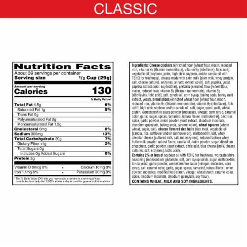 Cheez-It Classic Snack Mix Perspective: back