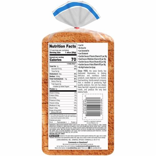 Lewis Bake Shop Half Loaf Butter White Bread Perspective: back