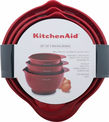 KitchenAid Mixing Bowls - Red Perspective: back
