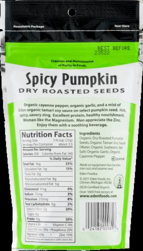 Eden Organic Spicy Pumpkin Seeds Perspective: back