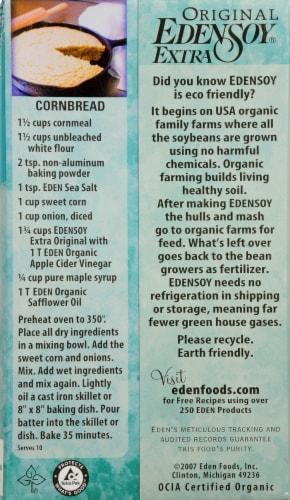 Eden Soy Extra Organic Soymilk Original Perspective: back