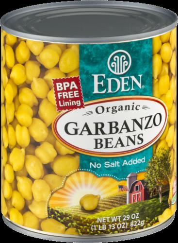 Eden Organic Garbanzo Beans Perspective: back
