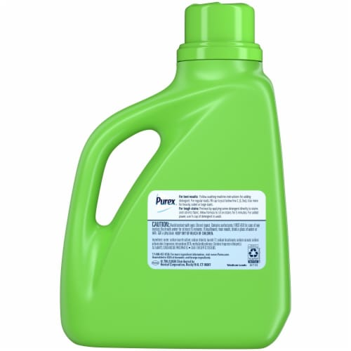 Purex Dirt Lift Action Natural Elements Linen & Lilies Liquid Laundry Detergent Perspective: back