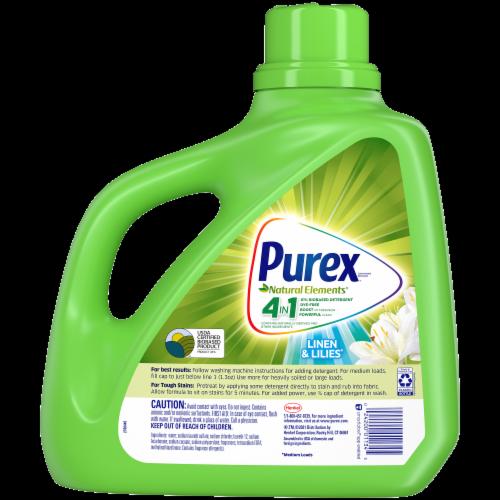 Purex Dirt Lift Action Natural Elements Linen & Lilies Liquid Laundry Detergent Perspective: back