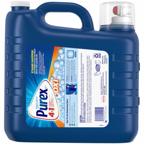 Purex Plus Oxi Fresh Morning Burst Scent 4-in-1 Liquid Laundry Detergent Perspective: back