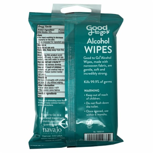Good To Go Alcohol Wipes Perspective: back