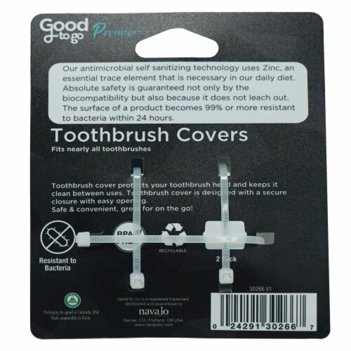 Good To Go Premier Toothbrush Covers Perspective: back