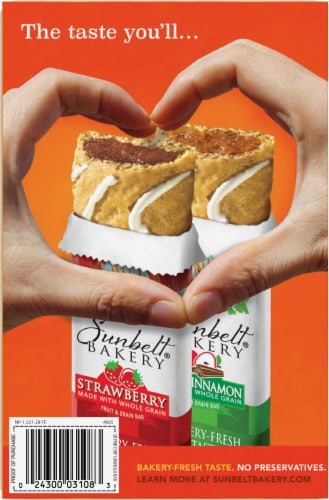 Sunbelt Bakery Peanut Butter Chip Chewy Granola Bars Perspective: back
