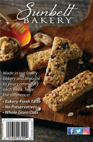 Sunbelt Bakery Sweet & Salty Almond Chewy Granola Bars Perspective: back
