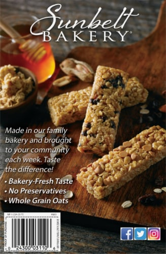 Sunbelt Bakery Sweet & Salty Peanut Chewy Granola Bars Perspective: back