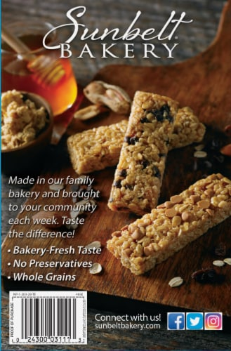 Sunbelt Bakery Fudge Dipped Chocolate Chip Chewy Granola Bars Perspective: back