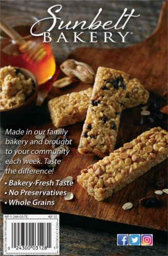 Sunbelt Bakery Natural Coconut Cream Chewy Granola Bars Perspective: back