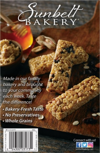 Sunbelt Bakery Strawberry Fruit & Grain Bars Perspective: back