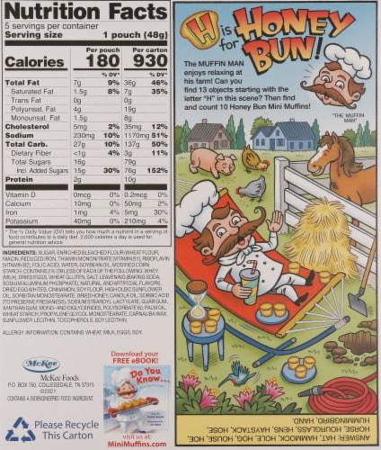 Little Debbie® Honey Bun Mini Muffins Perspective: back