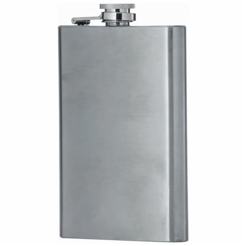 Maxam 8 Ounce Stainless Steel Flask Lightweight Drinking Flask with a Screw-On Leak Proof Lid Perspective: back